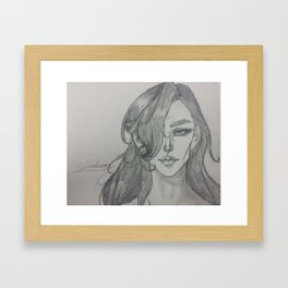 Dramatic Stare Framed Art Print