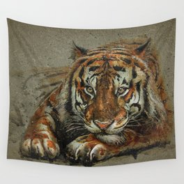 Tiger background Wall Tapestry