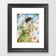 Fish Dance Framed Art Print