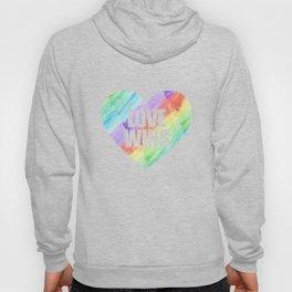 Love Wins Gay Lesbian Rainbow CSD Gift Hoody