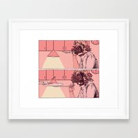 peonies Framed Art Prints featuring peonies by Anna Pan