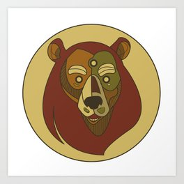 Benk Brown Art Print