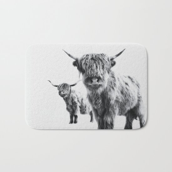 LULU & SARA - Scottish Highland Cows Bath Mat