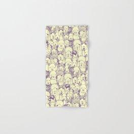 just alpacas purple cream Hand & Bath Towel