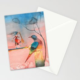 In dreams Fairy tale Colorful Bird Stationery Cards