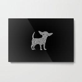 Chihuahua dog - black Metal Print