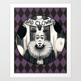Sad Clowns Art Print