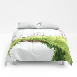 Mushrooms and Moss Comforters