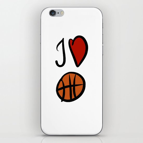 I love basketball  iPhone & iPod Skin