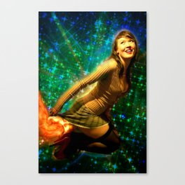 Galaxy Toot Girl | Sexy Pin Up Humor Canvas Print