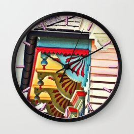 Shotgun House Trim Wall Clock