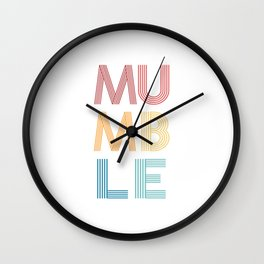 Mumble  TShirt Music Shirt Instrument Gift Idea Wall Clock