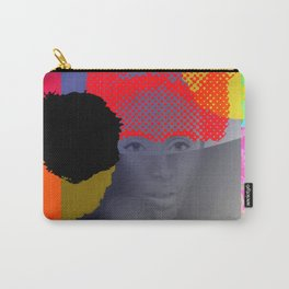 Woman Sited With Hat and Flowers Carry-All Pouch