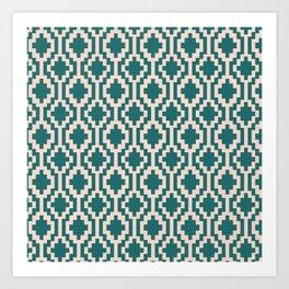 Mapuche Jade Blush Art Print