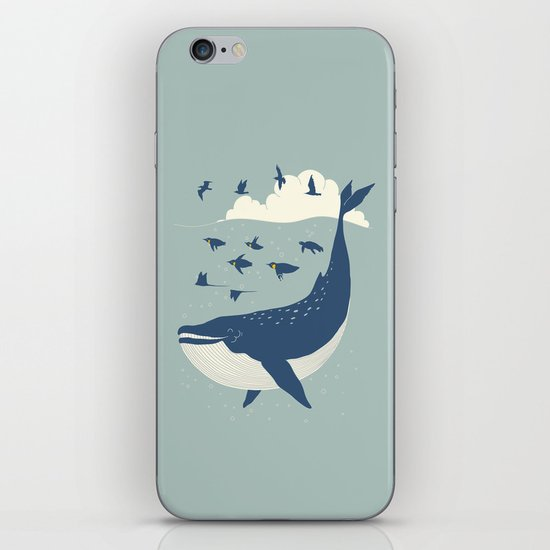 Fly in the sea iPhone Skin
