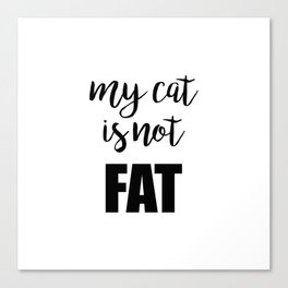 My cat is not fat Canvas Print