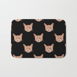 Kiki, the pretty blind cat Bath Mat