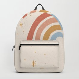 Hand Drawn Rainbow & Stars Illustration   Alex Gold Studios Backpack