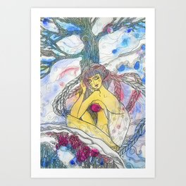 Lady Winter Art Print