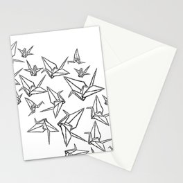 Origami Cranes Linocut Stationery Cards
