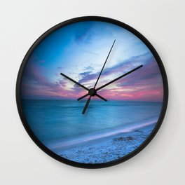 If By Sea - Sunset and Emerald Waters Near Destin Florida Wall Clock