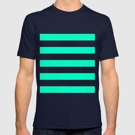 Mint White Stripes T-shirt