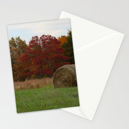 Hayfield in the Fall Stationery Cards