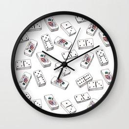 Dominos de Puerto Rico Wall Clock