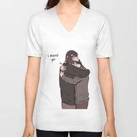 sterek V-neck T-shirts featuring Sterek Reunion by Dimension Bound