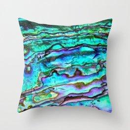 Paua Abalone Shell Throw Pillow
