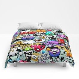 graffiti fun Comforters