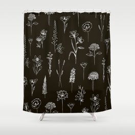 Patagonian wildflowers Shower Curtain