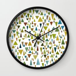 Watercolor triangle fantasy in nature colors Wall Clock