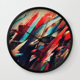 64 Watercolored Lines Wall Clock