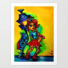 Voodoo doll saxophone player Art Print