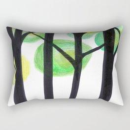 blacks trees Rectangular Pillow