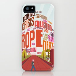 Typography Mall iPhone Case