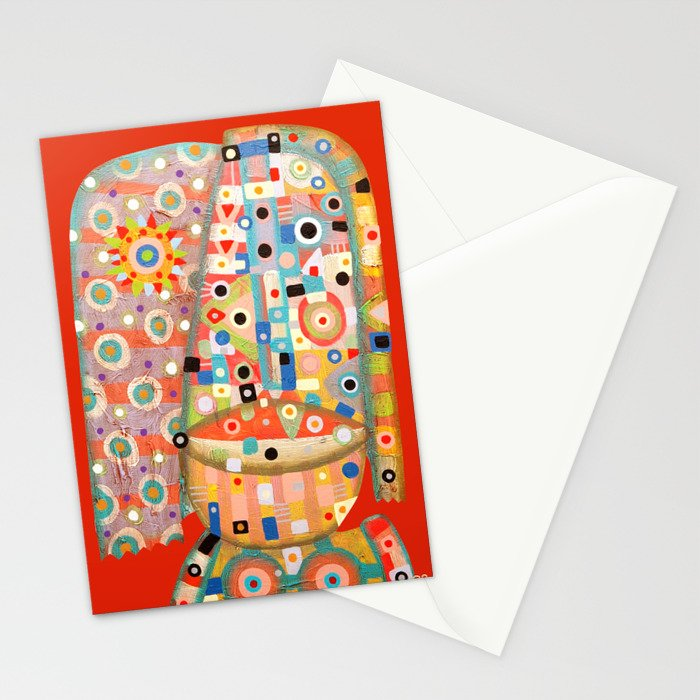 Girl with the flower in hair Stationery Cards