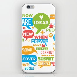 Social Media Infographic Style Design iPhone Skin