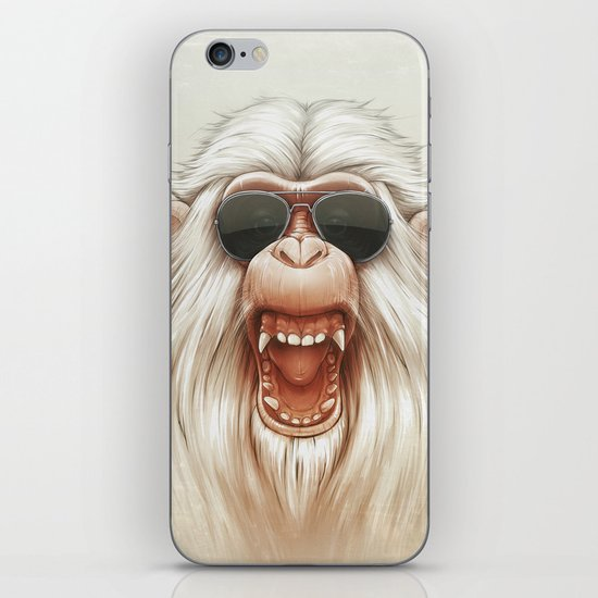The Great White Angry Monkey iPhone & iPod Skin