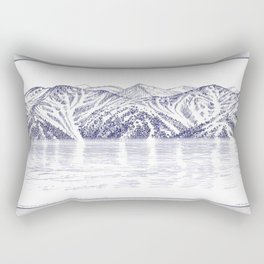 TURNAGAIN ARM AND THE CHUGACH RANGE ON THE COOK INLET ALASKA Rectangular Pillow