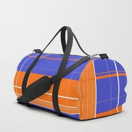 Orange and Blue Plaid Duffle Bag