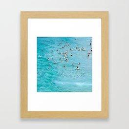 Cowded'n'Clear Framed Art Print