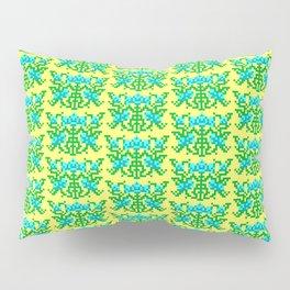 Pixel Floral Pattern - The Crimson Diamond Room Wallpaper Pillow Sham