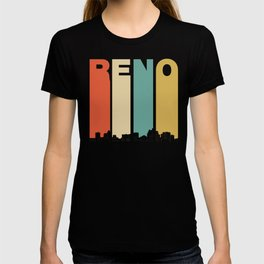 Vintage 1970's Style Reno Nevada Skyline T-shirt