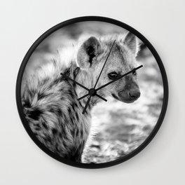 Hyena Cub Wall Clock