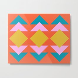 Colorful and Bold Geometric Design Metal Print