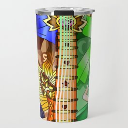 Sailor Mew Guitar #24 - Sailor Venus & Mew Retasu Travel Mug