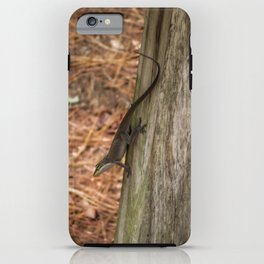 Anole in the pines iPhone Case
