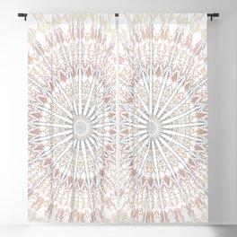 Beige White Mandala Blackout Curtain